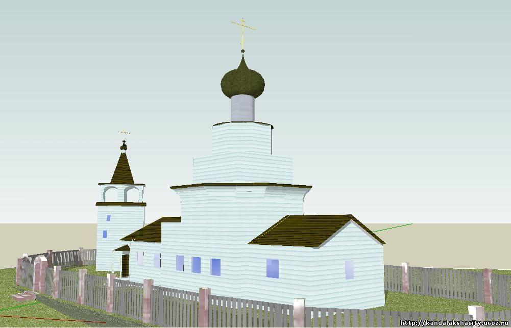 3D модель церкви